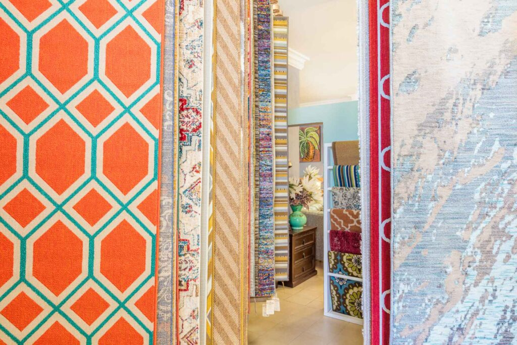Collection of colorful area and accent rugs in Cabo San Lucas