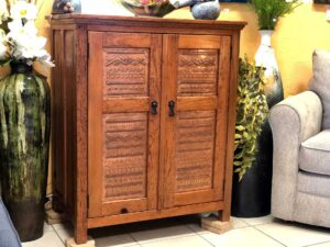 Wormwood dresser with copper details