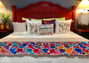 Red wormwood bed frame, made in Mexico