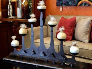 Metal decorative candle holder