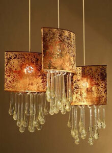 Carlos de Anda chandelier with glass droplets, sold at furniture store in Cabo San Lucas, Mexico