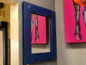 Blue wood mirror for sale in Cabo San Lucas