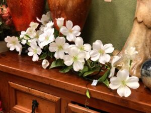 White florals for decoration
