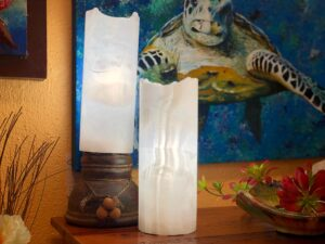 White onyx table lamps