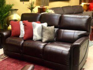 La-Z-Boy Oscar reclining sofa in Cabo San Lucas furniture showroom