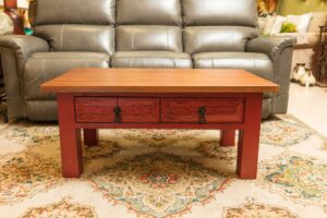 Red wormwood coffee table in Cabo San Lucas