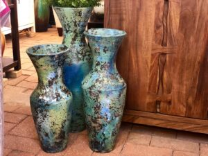 Handcrafted vases made in Mexico
