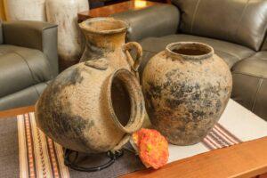 Coffee table decorative ceramic pots