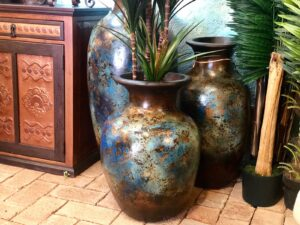 Handmade floor urns made in Mexico
