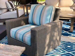 Sunset West Coronado outdoor furniture collection swivel club chair in Cabo San Lucas, Mexico