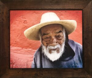 Bruce Herman photograph of smiling old Mexican man