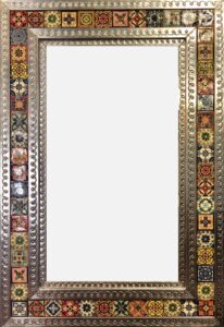 Rectangular talavera mirror