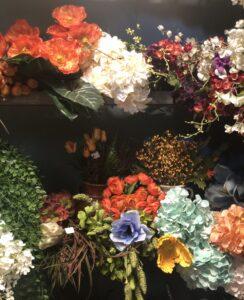 Faux floral arrangements in Cabo San Lucas, Mexico