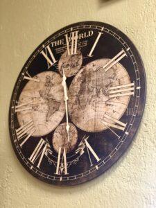 Vintage look wall clock in Cabo San Lucas