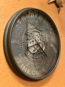 Large wall clock at furniture store in Cabo San Lucas, Mexico