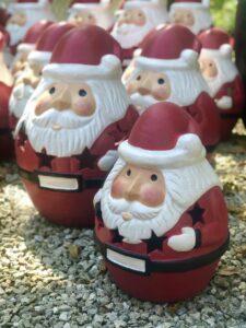 Decorative clay Santa Claus for garden
