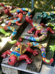 Colorful talavera gecko lizards Lake of the Ozarks