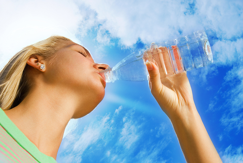 drinking water to combat dry mouth and tooth decay