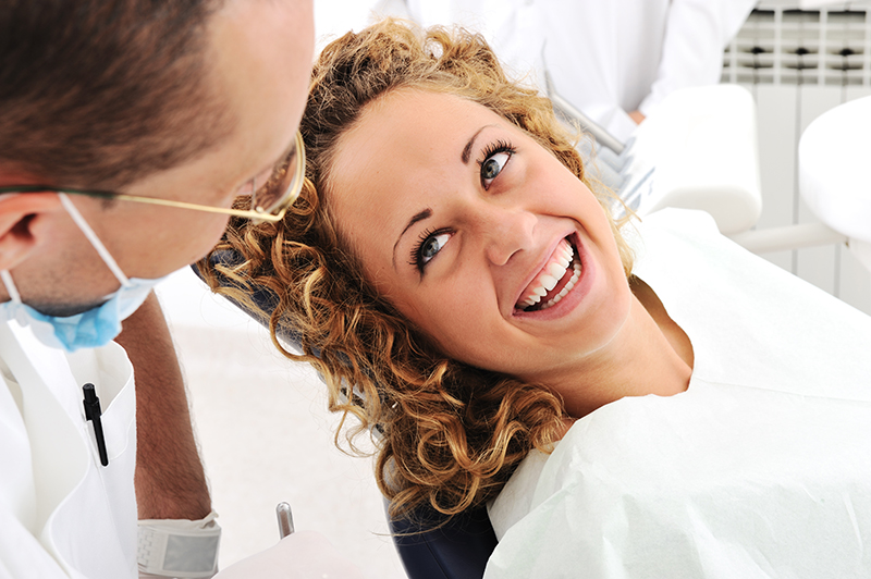 Woman in the Dentist Chair