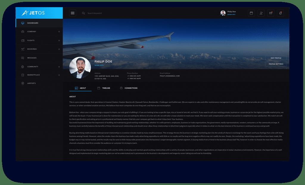 JetOS user profile