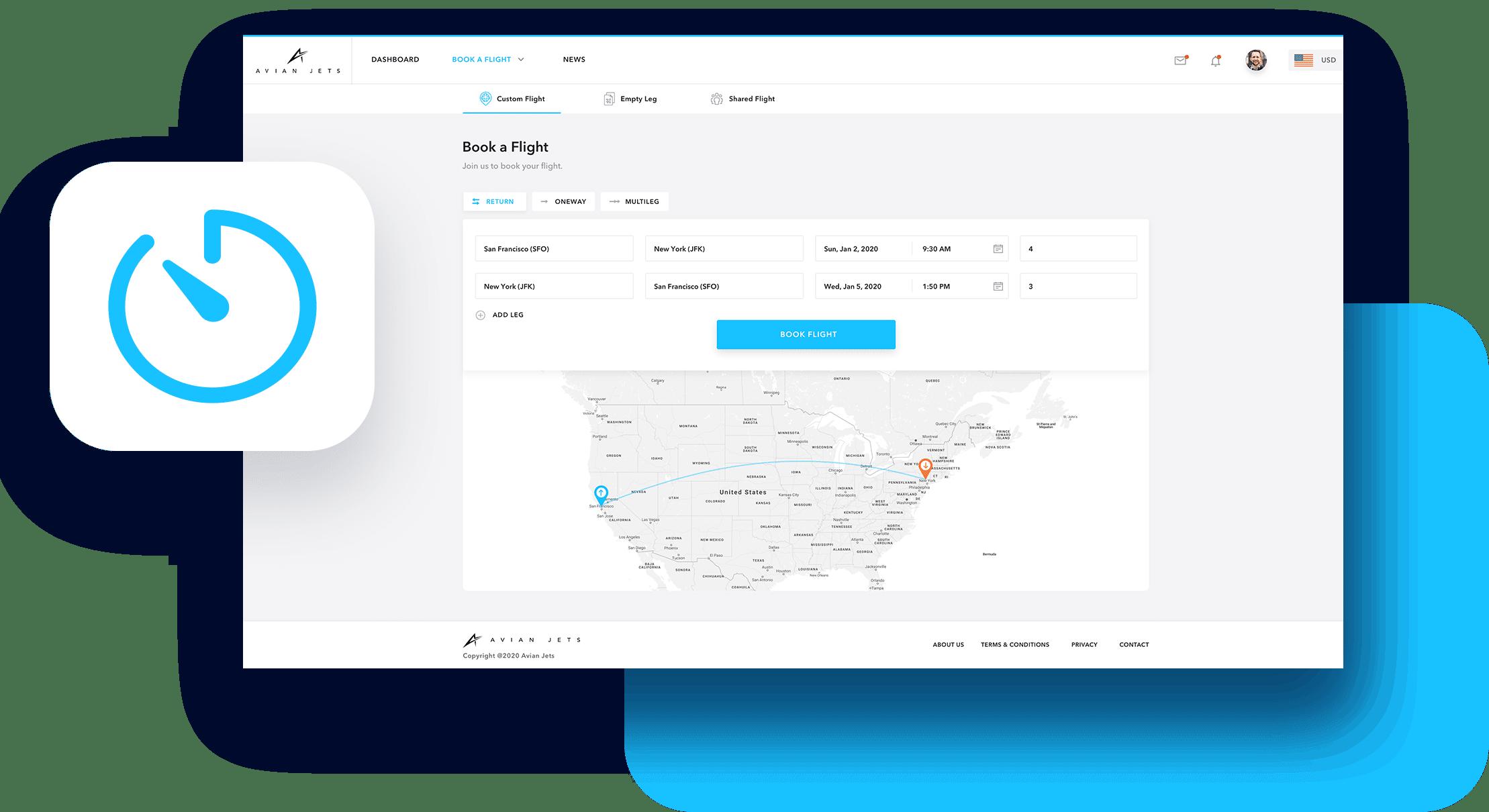 JetOS White Label Book a Flight Screenshot