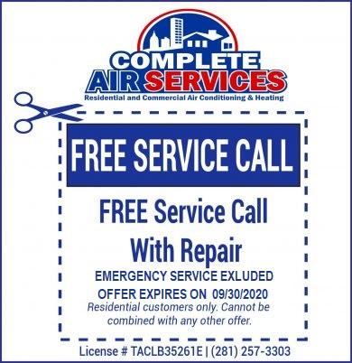Free Service Call Coupon