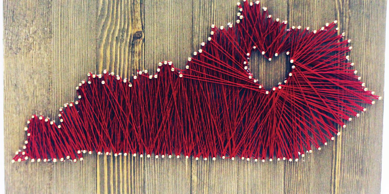 Make your own nail-string sign