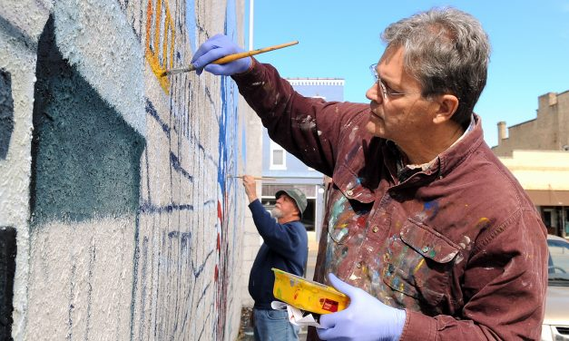 The art of the mural: Phil May uses buildings as canvas to share history