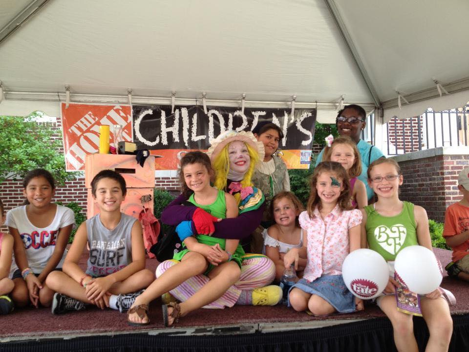 Home Depot event for children with Corky Magic in Charlotte, NC