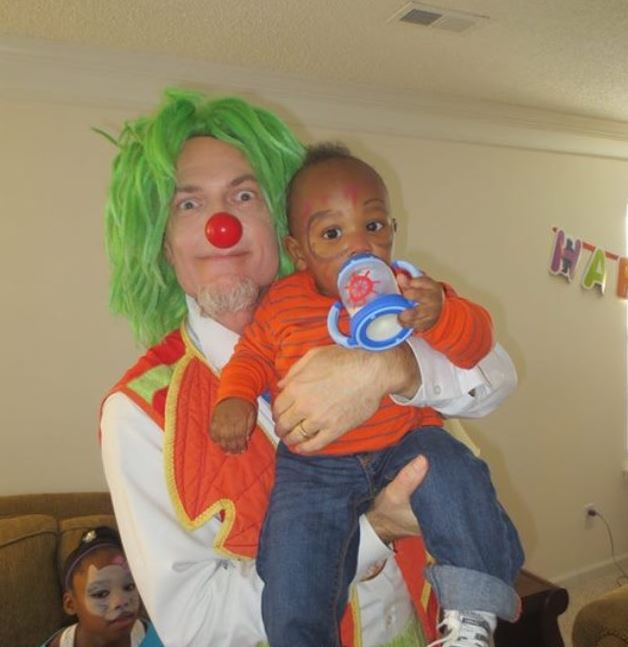 Arty is Fantastic With Corky The Clown