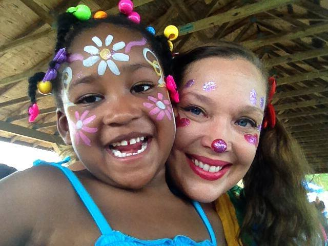 Face painting by Corky Magic bringing smiles to Charlotte NC faces