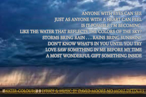 Watercolours song by David Moore & No More Detours jazz-pop band Tampa Bay Chicago New York Nashville LA Vegas