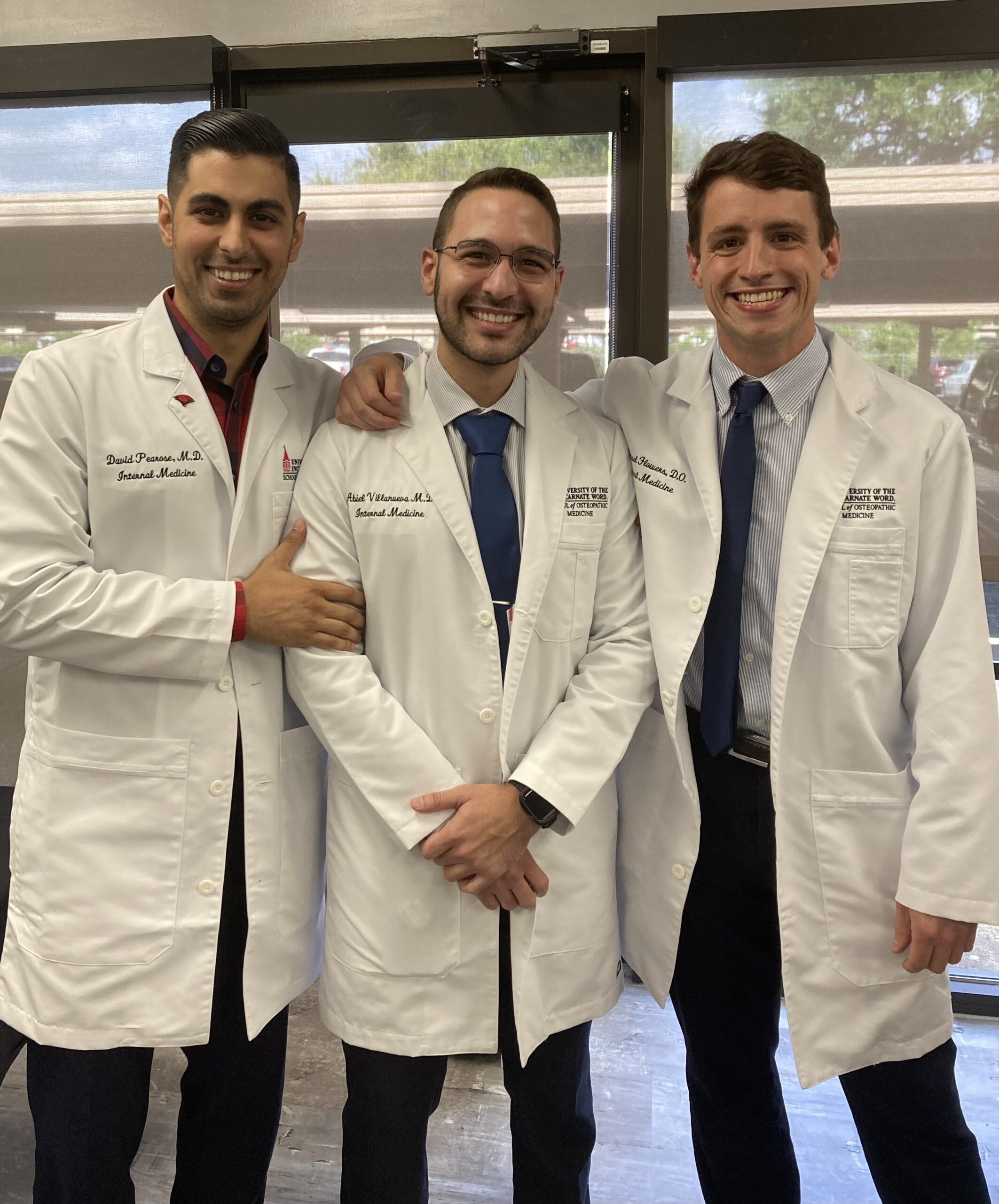 Male doctors from the Texas Vista Medical Center