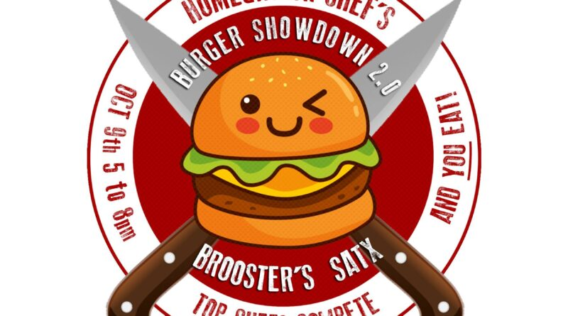 Burger Showdown at Brooster's by Homegrown Chef