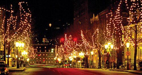 City winter celebration