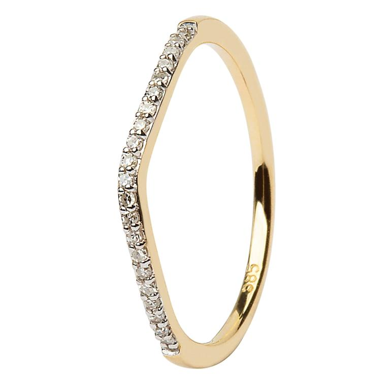 14K Yellow Gold Pave Set Matching Wedding Ring For Diamond Engagement Ring with Celtic Knot Design - JP22