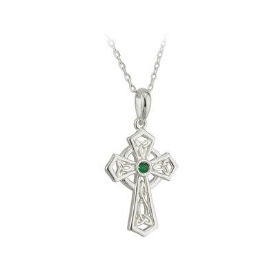 Silver Trinity Knot Cross Pendant