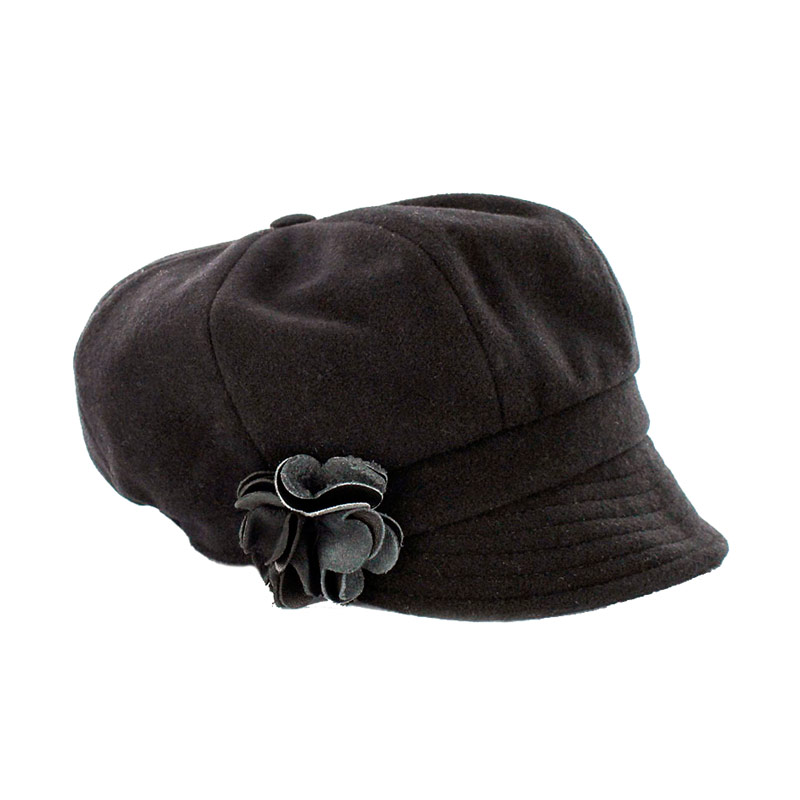 Ladies Irish Hat Newsboy Black