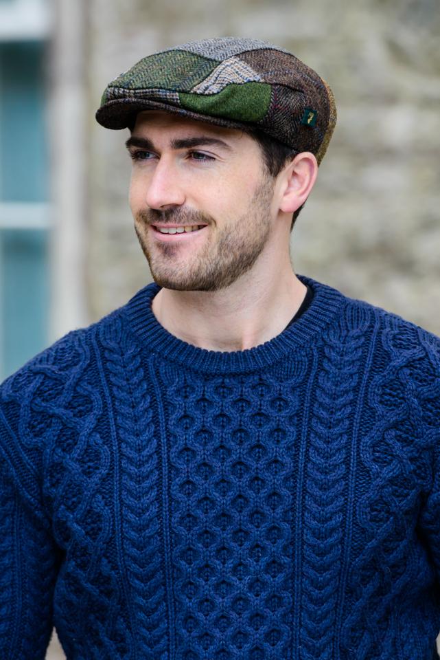 Irish Hats and Caps Trinity Patchwork Cap – B
