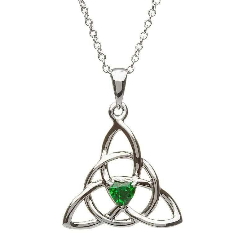 SP2055GR - Trinity Knot Celtic Necklace