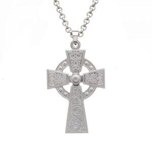 Celtic Warrior Celtic Cross - Large - WC4-SIL