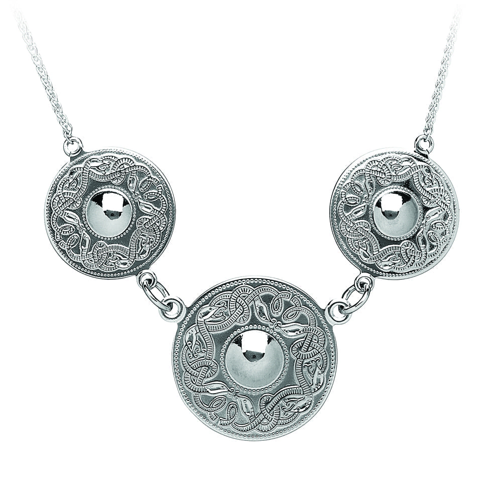 Celtic Warrior Silver Necklace – Triple Disc - WP3-SIL