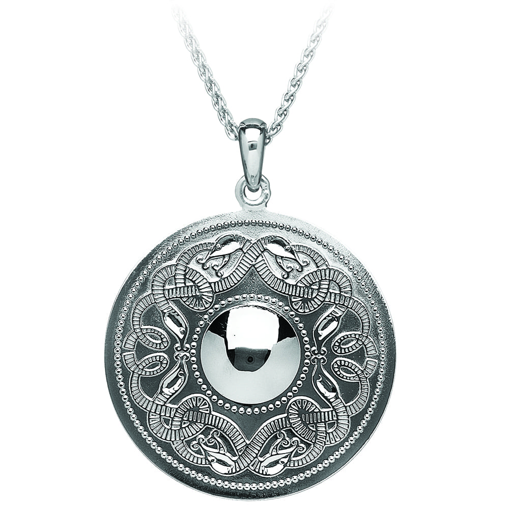 Celtic Warrior Silver Pendant - Large - WP5-SIL