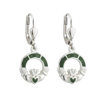 Connemara Marble Claddagh Drop Earrings - S33590