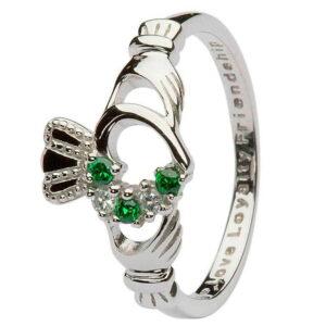 Claddagh Ring Open Heart Silver - SL75GRCZ