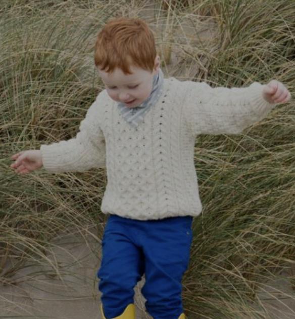 Children's Aran Sweater - A761-162