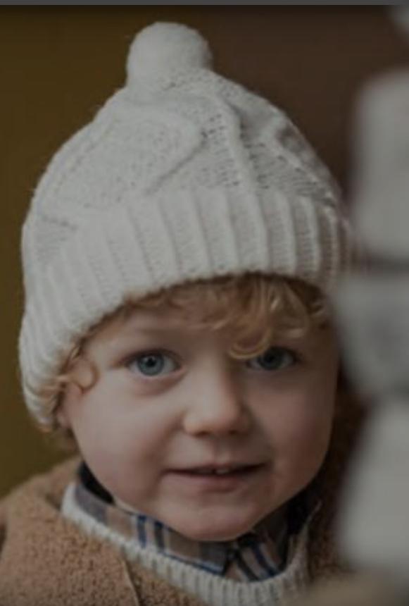 Childs Aran Merino Wool Ski Hat S168-669