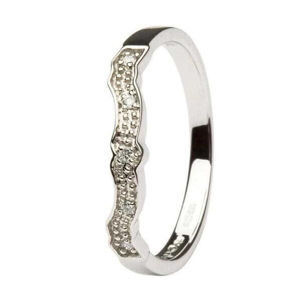 Diamond Set Matching Wedding ring for (14L68) - 14k White Gold - 14L69W