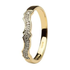 Diamond set Matching Wedding ring for (14L68) - 14k Yellow Gold - 14L69