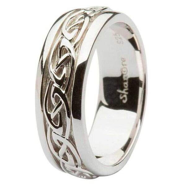Gents Silver Celtic Knot Ring - SD11
